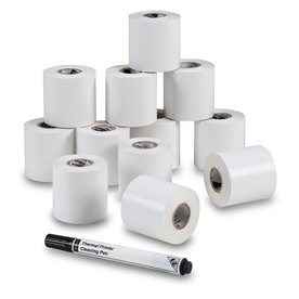 Continuous Direct Thermal Labels 2 in. x 65ft (12 rolls)